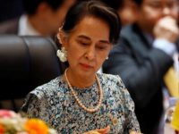 Myanmar's Foreign Minister Aung San Suu Kyi attends a meeting of ASEAN foreign ministers in Vientiane, Laos July 25, 2016. REUTERS/Jorge Silva
